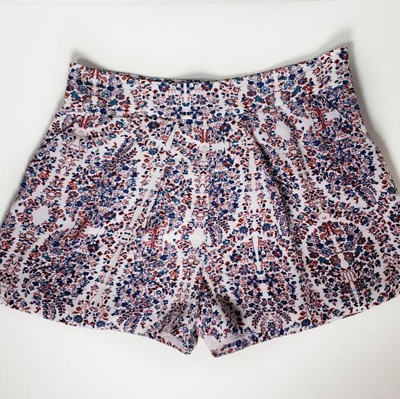 Rebecca Taylor Pants - Rebecca Taylor Relaxed Paisley Print Silk Shorts
